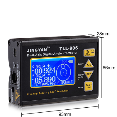 TLL-90S Digital Laser Level Protractor Angle Finder Meter Hi-accuracy 0.005° 90S 7