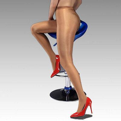 1a0108c2943 ... Women Satin Touch 8D 70D Tights High Gloss Luxury Shine Pantyhose Dance  + Crotch 3