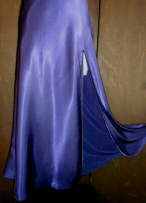 Victoria Secret S Purple Long Nightgown Slit Gown Satin Woman Lace Small Vintage 7