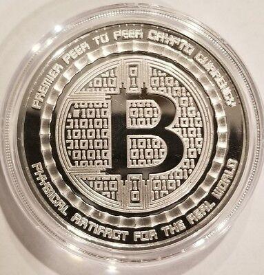 Bitcoin Guardian Proof 1 oz .999 fine Solid silver commemorative Digital AI Rare 2