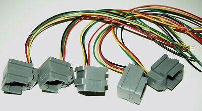 Lot of 5 Modular Jacks with leads RJ11/RJ14 wiring 6P4C, Part# 623K, see photos 2