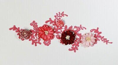 2 x Floral lace Applique / decorative sewing lace motifs 11 different colours #1 6