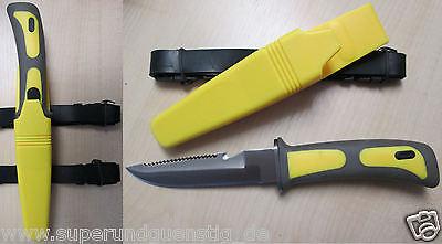 Mil Messer Tauchermesser Frogman mit Beinholster Kunststoffscheide Farbauswahl