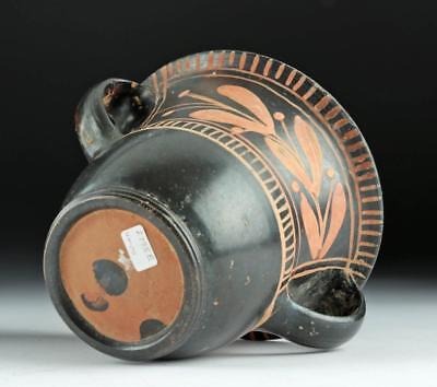 Greek Xenon Ware Handled Vessel Lot 33F
