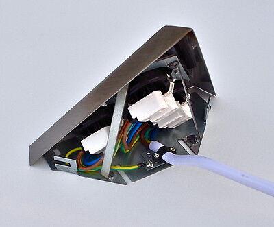 Thebo Ecksteckdose ST 3007-c Distributeur Prise De Courant 3x Triangle prise de courant Powerport SW