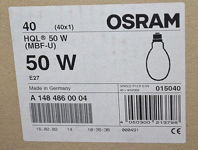 Osram HQL MBF-U 50W E27 Hochdruck Entladungslampe /// 5 Stück /// NEU OVP