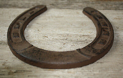 Cast Iron Lucky Horseshoe Rustic Ranch Western  Home Decor 5 1/2 x 6.5 in TEXAS 3