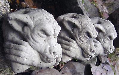 TORWÄCHTER B-Ware Steinguß Steinfigur frostfest 2 Stück  Mortimer GARGOYLE