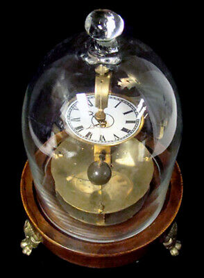 Mystery Briggs Rotary Glass Dome Flying Ball Clock 2