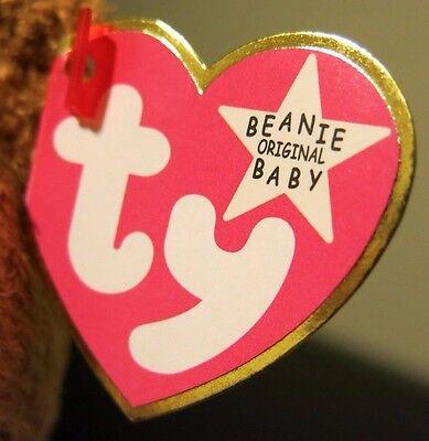 64ed8280694 ... Rare Ty Beanie Baby Fuzz - Pink Tag - White Star - Error Other Typos -