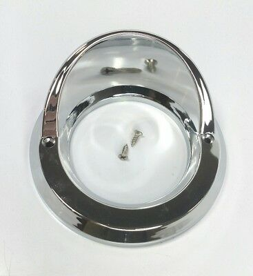 "Chrome Light Bezel 2-1/2"" Round Visor Cover for Peterbilt Kenworth Freightliner 2"