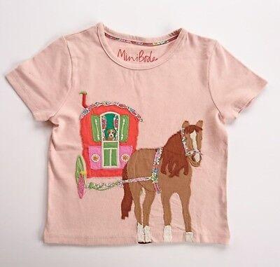 EX-MINI BODEN GIRLS CUTE APPLIQUE JERSEY HORSE-FLOWER BIRD T-SHIRT AGES 2-14