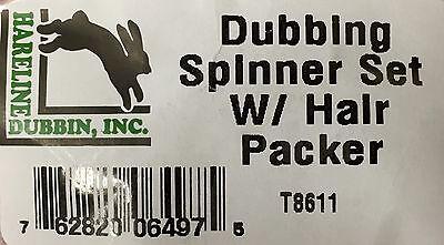 Dubbing SPINNER Set /& Hair Packer #T8611 Hareline DUBBING SPINNER SET #T8611