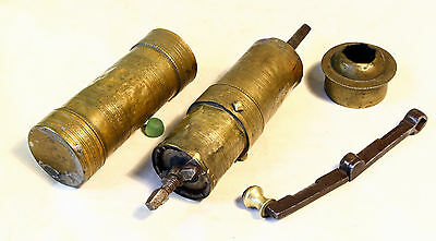 ANTIQUE 19`c ISLAMIC OTTOMAN EMPIRE BRONZE BRASS  Engraved COFFEE MILL GRINDER 7