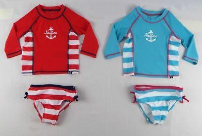 Nautica Girls' baby set, Two-Piece Anchor Swim Set sizes 12,18,24 months