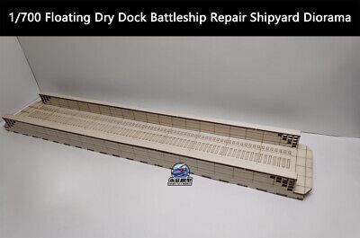 1/700 FLOATING DRY Dock Battleship Repair Shipyard Diorama