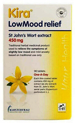 60 Kira Low Mood Relief St John's Extract 450mg Tablets (2 x 30) Exp 10/2020 4