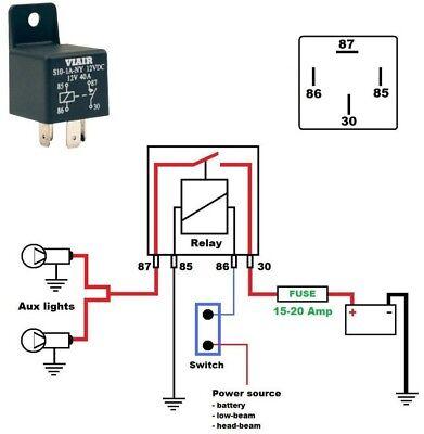 40 Amp 4 Pin 12 Volt Relay