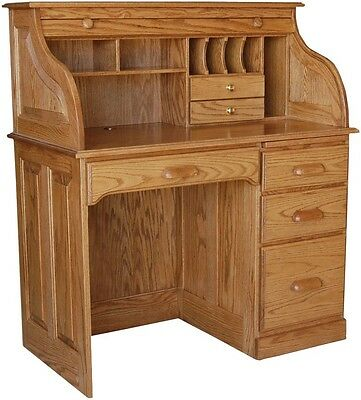 62a33733037b0 ... Amish Rolltop Writing Computer Desk Home Office Furniture Oak Solid Wood  New 2