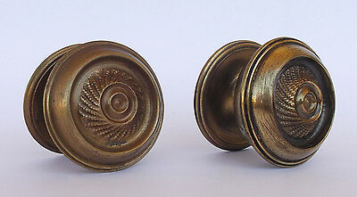 Vintage Pair Of Brass Handle/knobs 5