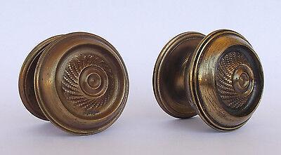 Vintage Pair Of Brass Handle/knobs 5
