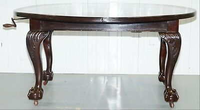 Stunning Victorian James Phillips & Son's Solid Mahogany Extending Dining Table 8
