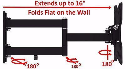 Full Motion TV Wall Mount Articulating Bracket 24 32 37 39 40 LED LCD FlatScreen 2