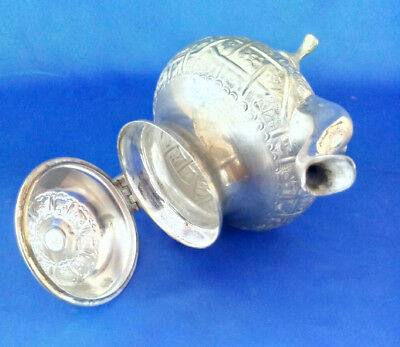 Beautiful  Handcrafted Marked  Islamic  Moroccan Hammered Teapot Tea Pot Unused 4