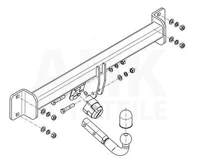 Für BMW X3 E83//E83LCI Anhängerkupplung starr ABE