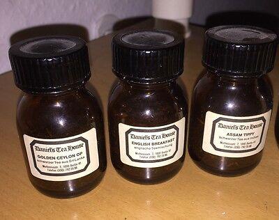 7 Braune Schraubgläser Apotheke Arzt Vorrat Tee Apothekerflaschen 2