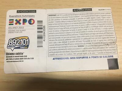 Biglietto Concerto Di Vasco Rossi Live Kom  2015 San Siro Milano 17-6-2015 2