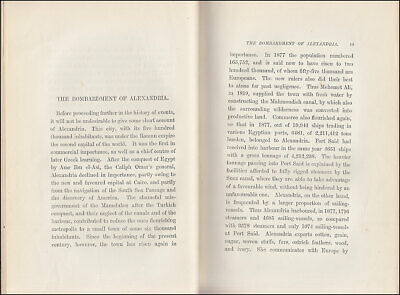 Vogt THE EGYPTIAN WAR OF 1882, Egypt BOMBARDMENT of ALEXANDRIA Suez BRITISH ARMY 6
