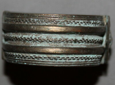 Antique Greek Silver Hinged Hand Made Cuff Bracelet