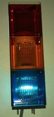 Patlite Cs-302 Signal Light Tower 24 V Red Yellow Blue 82Mm Cube Height: 262Mm