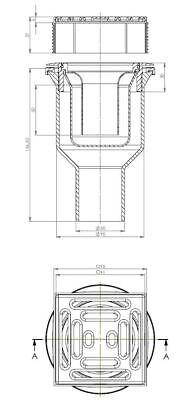 """Duschelement Duschboard Duschtasse /""""Simply/"""" 100x140 cm ebenerdig befliesbar"""