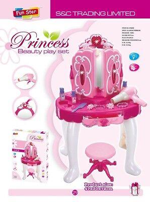 70 Specchiera per bambine giocattolo specchio con accessori luci suoni alta cm