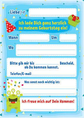 Schön 1 Von 3Kostenloser Versand Einladungskarten Einladungen Zum 3.  Kindergeburtstag Junge Mädchen MONSTER