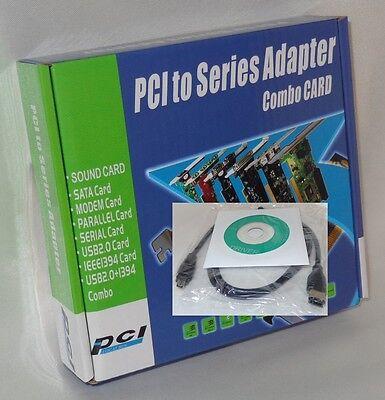 PCI Firewire Karte 3+1 (4-Port) PCI Controller Fire Wire 1394 FiWi + Kabel 6/4