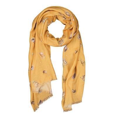 Wrendale Designs Mustard Woodlanders Design Scarf - Great Gift Idea for Women 3