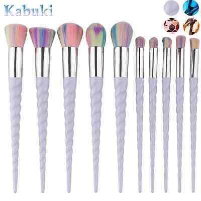 10Pcs Pro Makeup Brushes Set Foundation Blusher Face Powder Eye Cosmetic Brush 3
