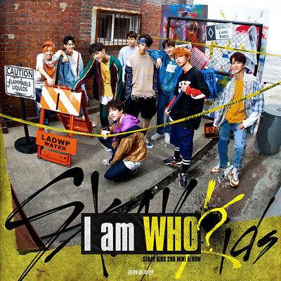 STRAY KIDS [I AM WHO] 2nd Mini Album RANDOM CD+PhotoBook+3p Card+Poster(On)+GIFT 3