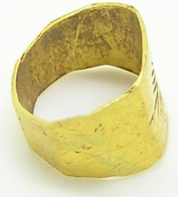 1st - 3rd century A.D. Ancient Roman Gold Finger Ring Victory Palm 5