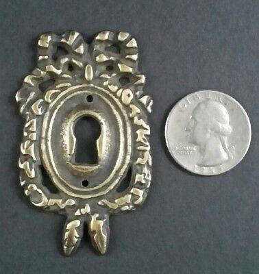 "2 Vintage Antique Style Ornate French Eschutcheons Key Hole Covers 2 1/2"" #E13 4"