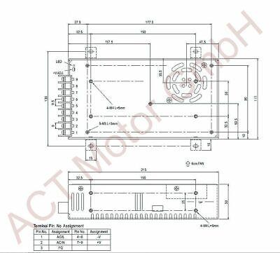 DE Free 1PC Schaltnetzteil 350W 60V Single Switching Power Supply 5.85A Netzteil 2