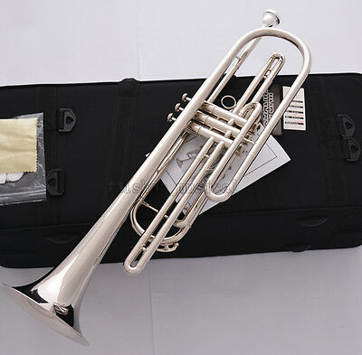 Professional Silver nickel Bb Bass Trumpet 3 Piston Vavles JINBAO Horn With Case 5