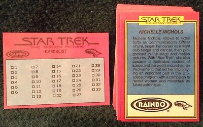 Star Trek Topps 1979 Trading Cards....  Rainbo Bread Trading Cards Full Set!!!.. 3
