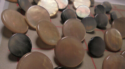 8 Fine Italian Shank Buttons Pearlized Transluscent White With Engraved Texture