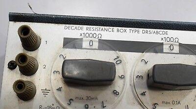 Danbridge DR5/ABCDE decade resistance box 0.1 to 100 Ω 10