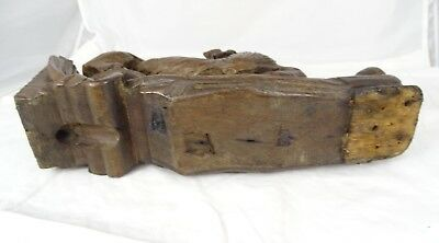French Antique Large Carved Oak Wood Hunt Theme Sculpture Wild Fox Black Forest 11