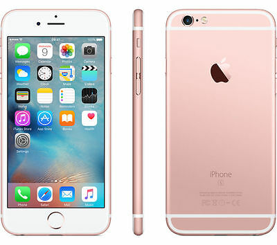 Apple iPhone 6S Unlocked 4s 16GB 64GB 128GB Space Grey Rose Gold Silver Warranty 9